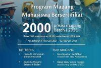 program magang mahasiswa bersertifikat tahun 2021