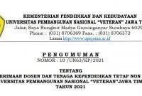 Lowongan non PNS UPN Veteran Jawa Timur