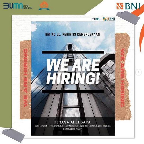 Lowongan Kerja Bank BNI KC Bandung Mei 2021 | KabarKerja